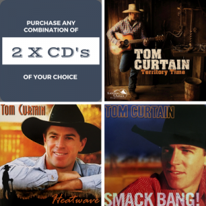 Purchase any 2 of Tom Curtain's CD