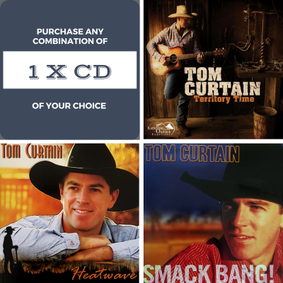 Purchase any one of Tom Curtain's three country music album